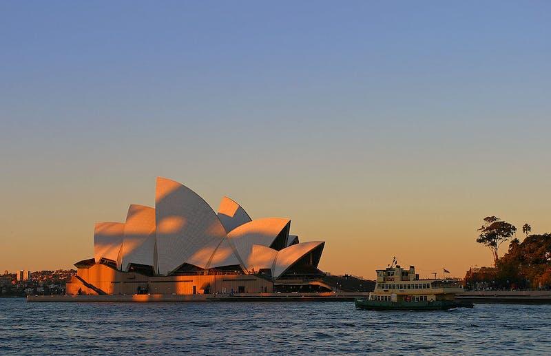 sunset at sydney opera house