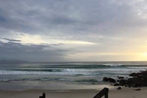 surfing in auckland te arai beach