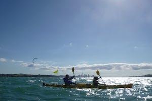 auckland activities, sea kayak to rangitoto
