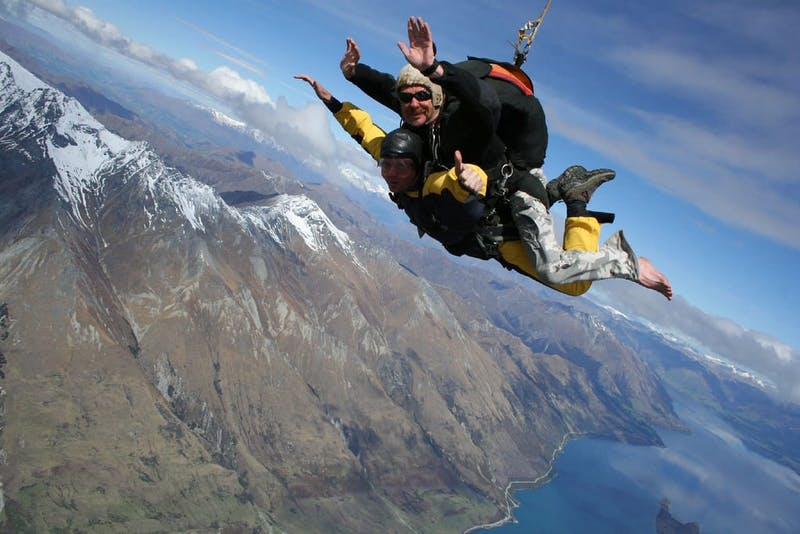 best things to do in queenstown skydiving