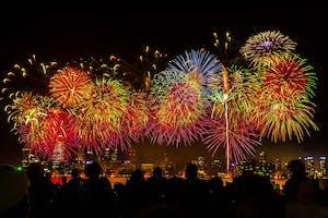 australia day fireworks in perth
