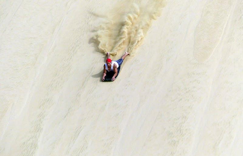 sand boarding cape reinga