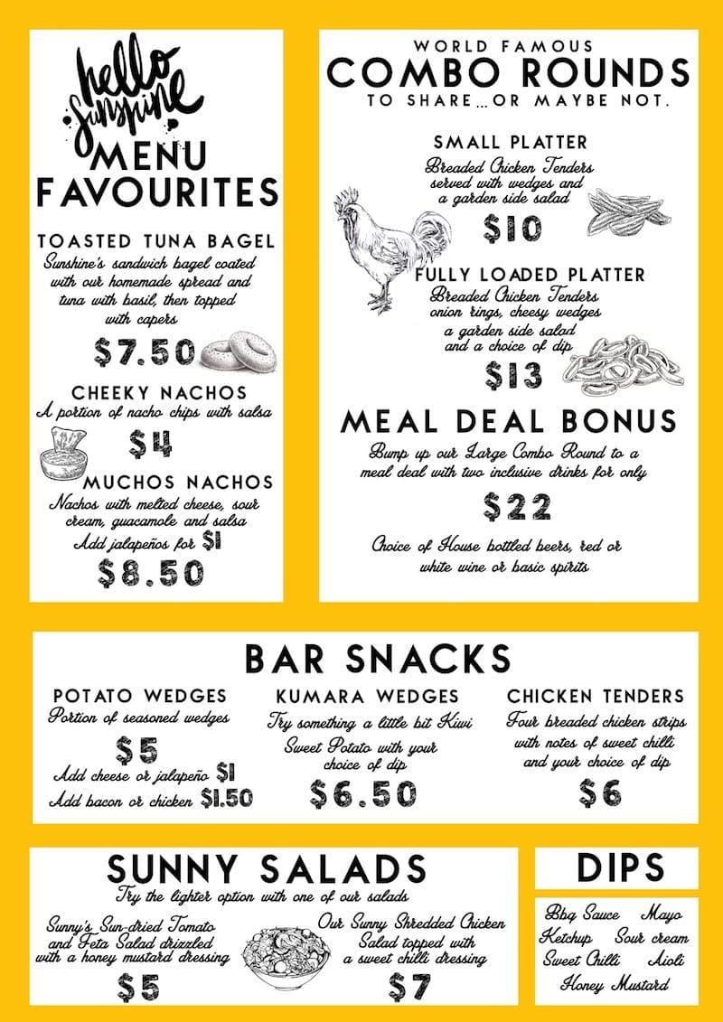 cheap eats auckland sunshine bar