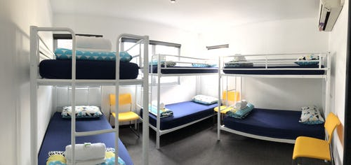 6 bed dorm at base brisbane hostel