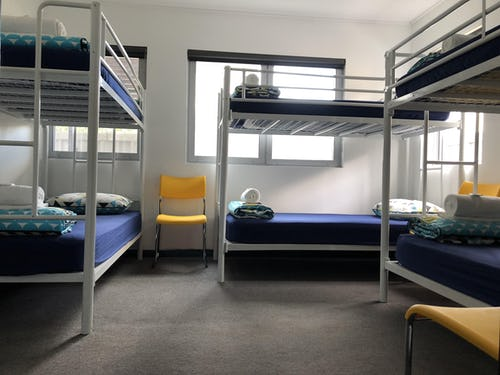 6 bed female only dorm at base hostel brisbane