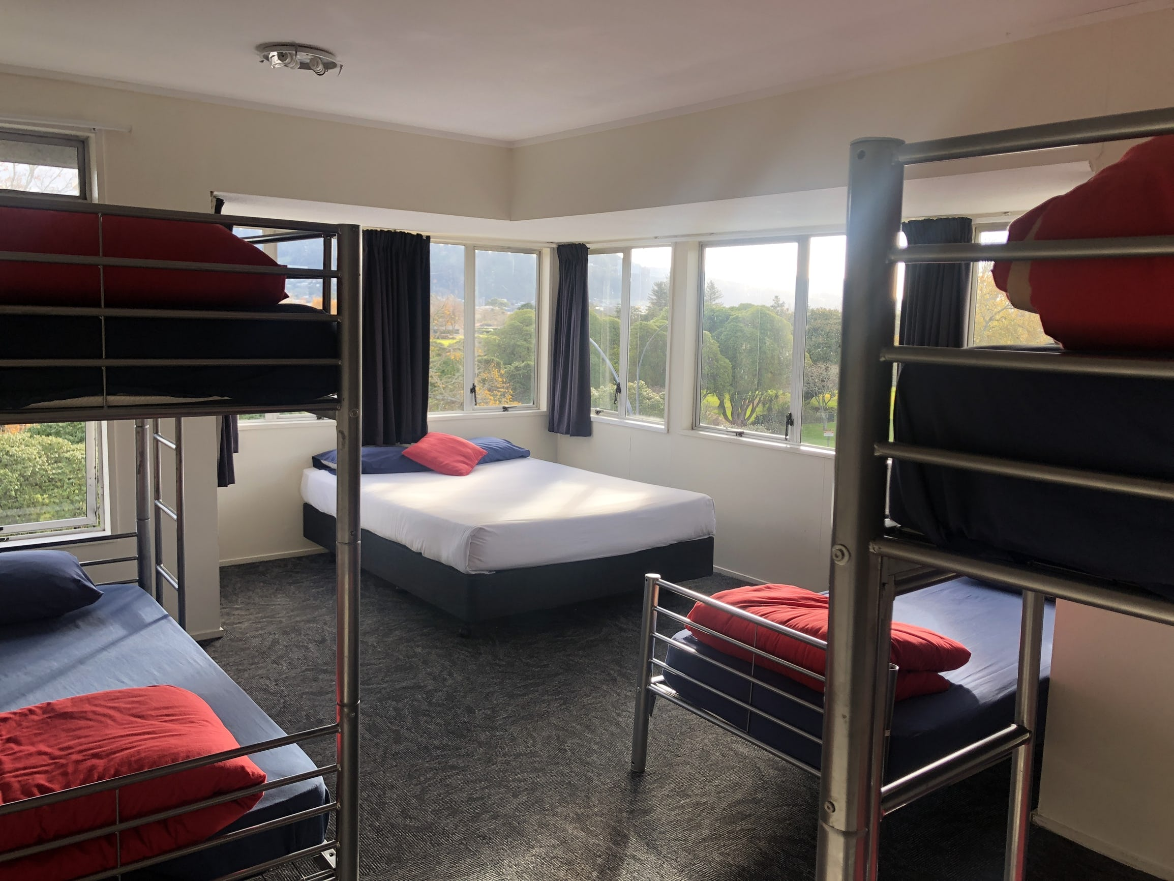 6 bed shared stay space at base rotorua accommodation