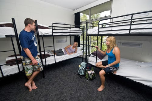 10 bed ensuite dorm at base hostel rotorua