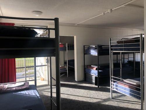 large dorm at rotorua base hostel