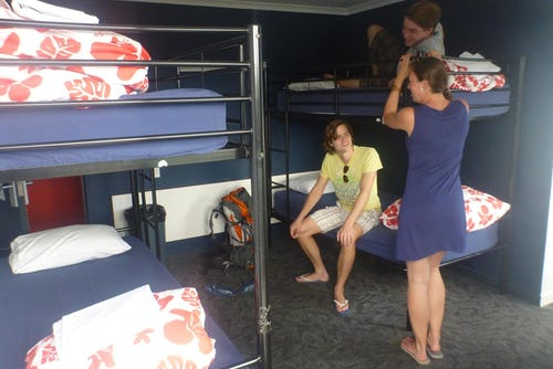 4 bed dorm at base backpackers taupo
