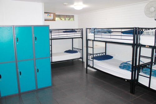 8 bed dorm at nomads backpackers noosa