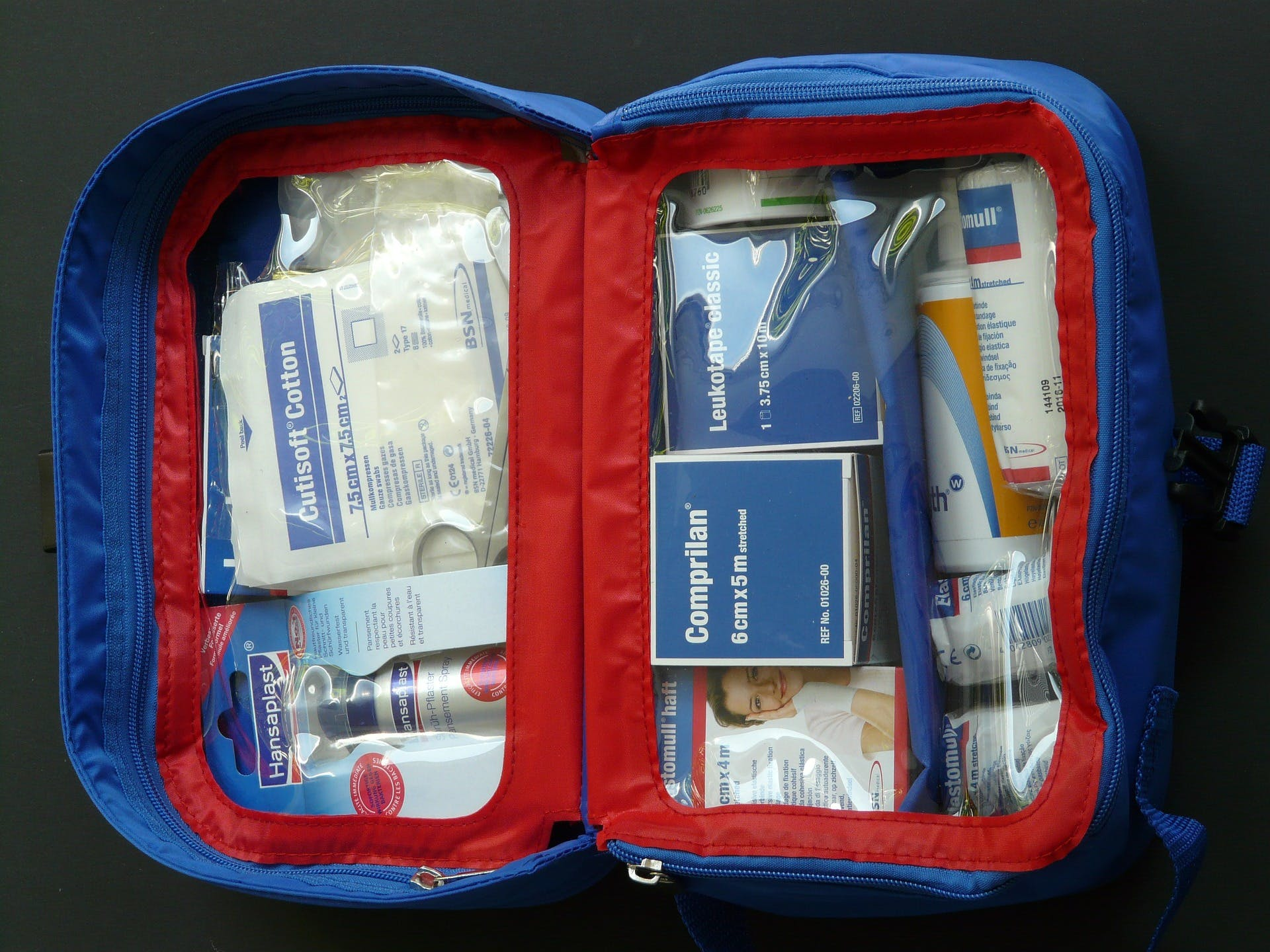 first aid kit is a travel essential