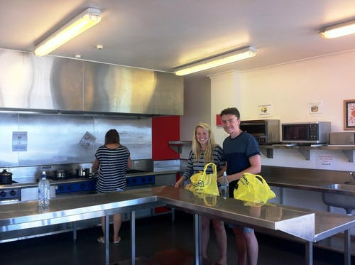 communal kitchen at base backpackers taupo
