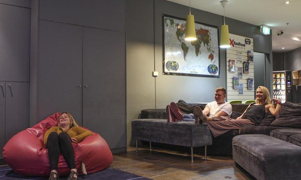 tv lounge at base hostel st kilda