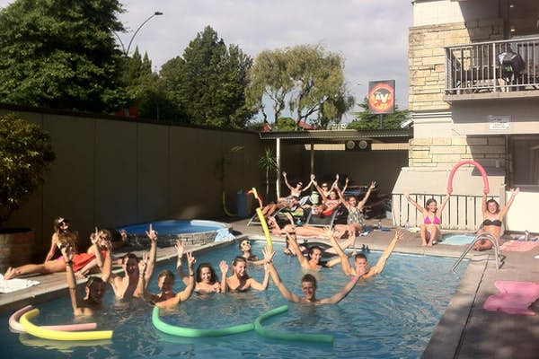 pool parties at rotorua base hostel