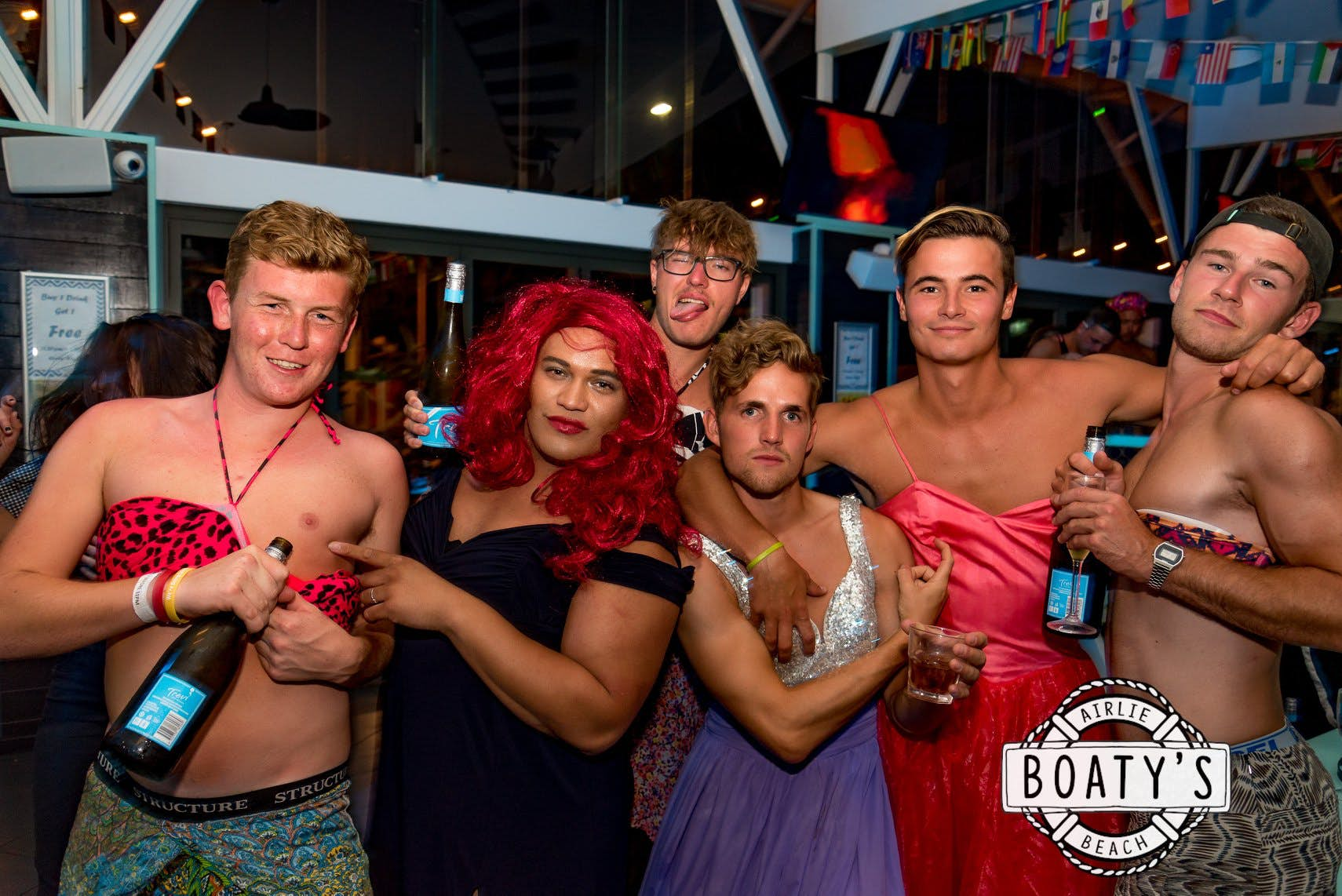 ladyboy comp at airlie beach base backpackers
