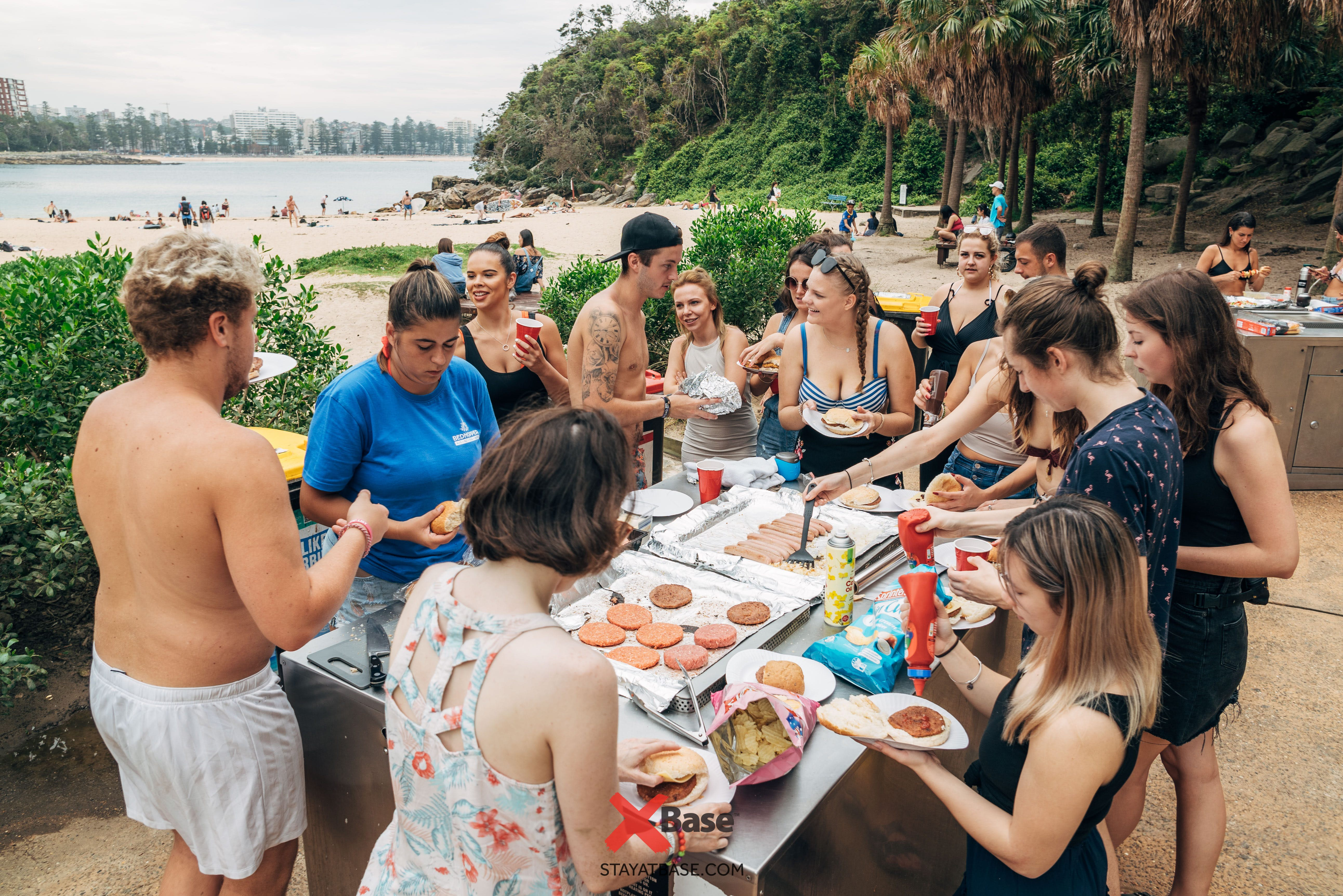 manly beach bbq with sydney base hostel
