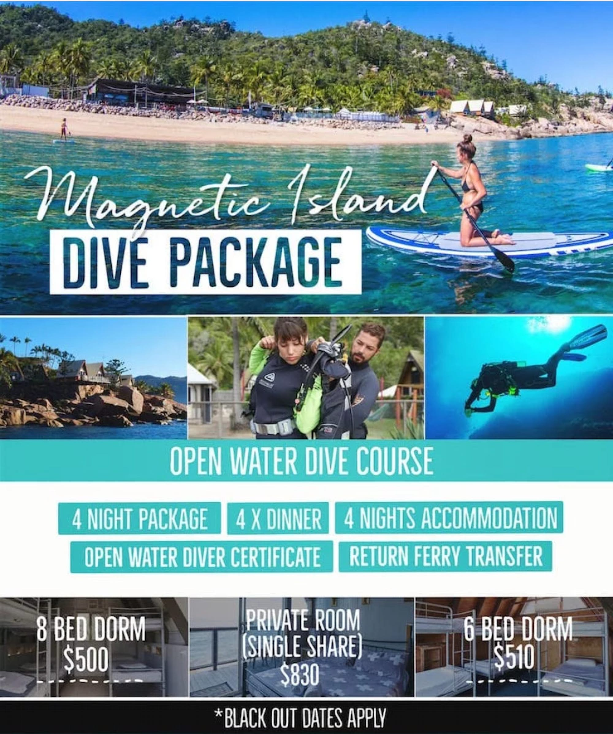 magnetic island open water dive course