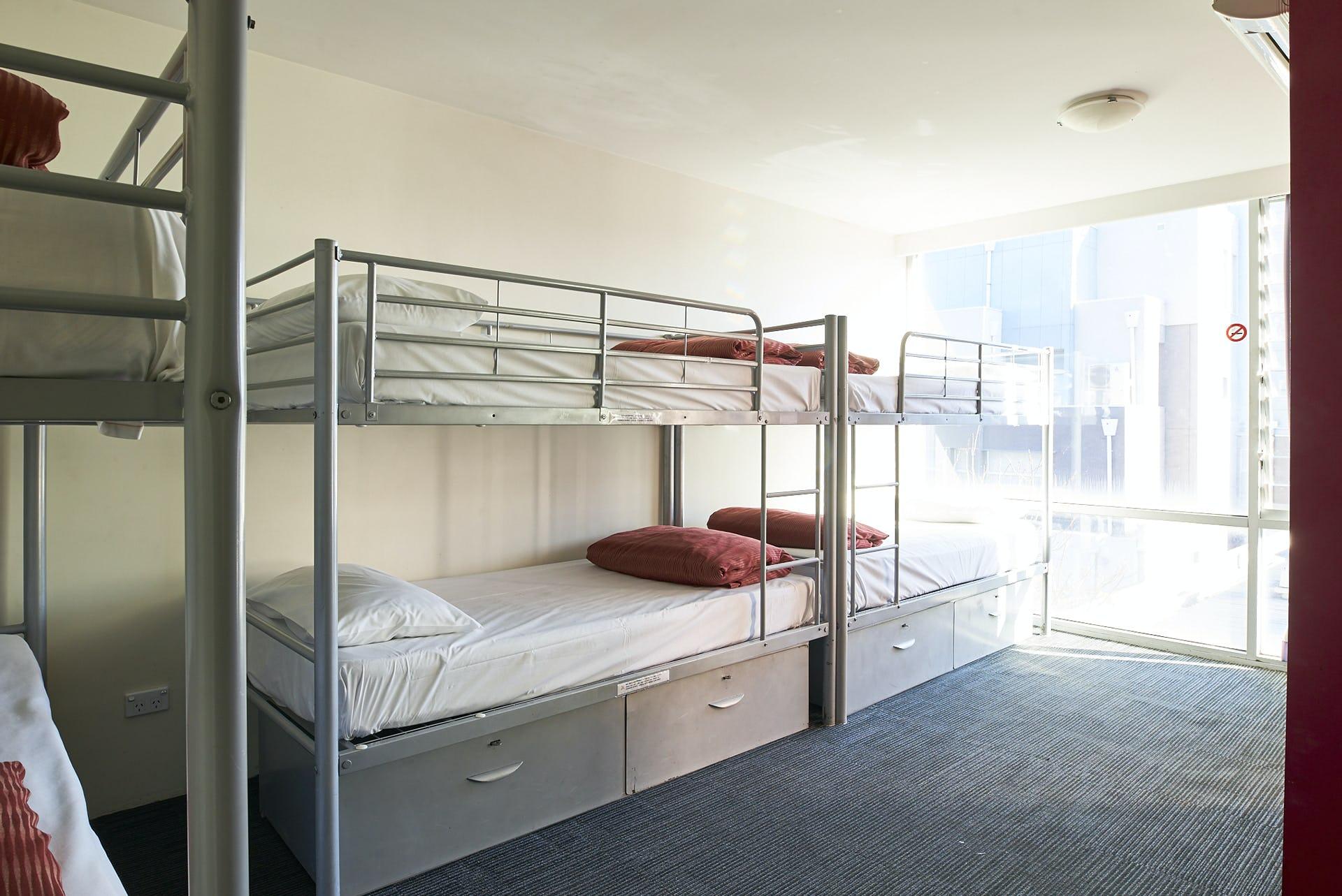 Base墨尔本背包客旅馆的6床套房