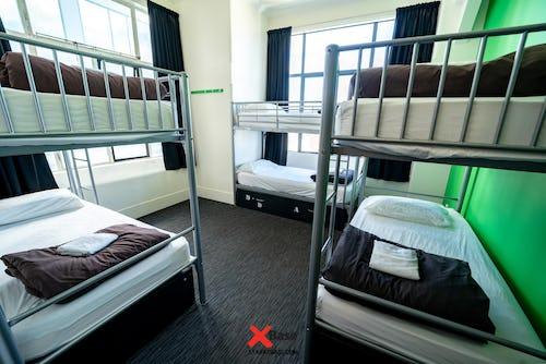 6 bed dorm at wellington base hostel