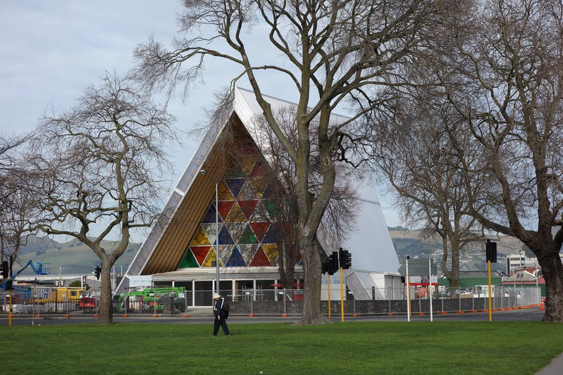 chirstchurch cathedral cardboard cathedral