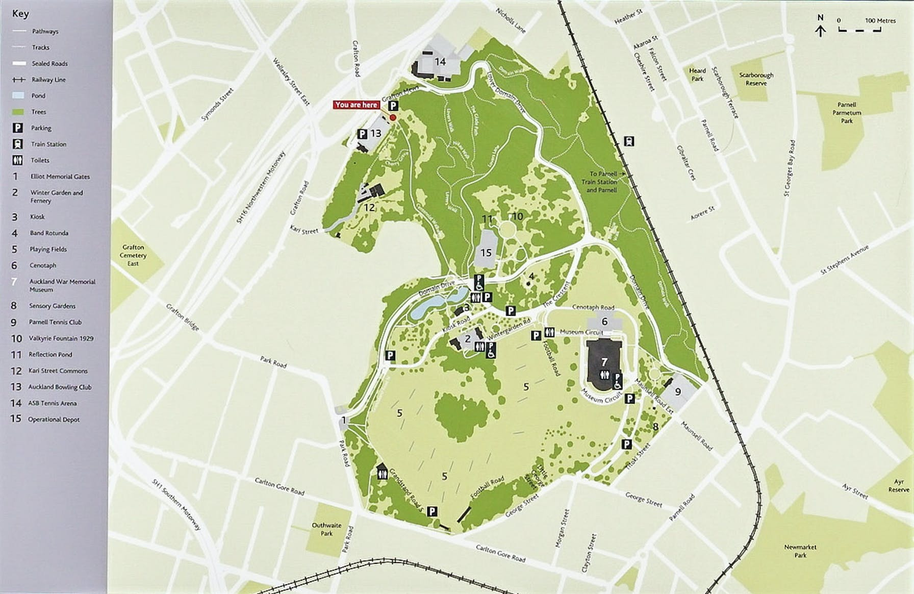 auckland domain map