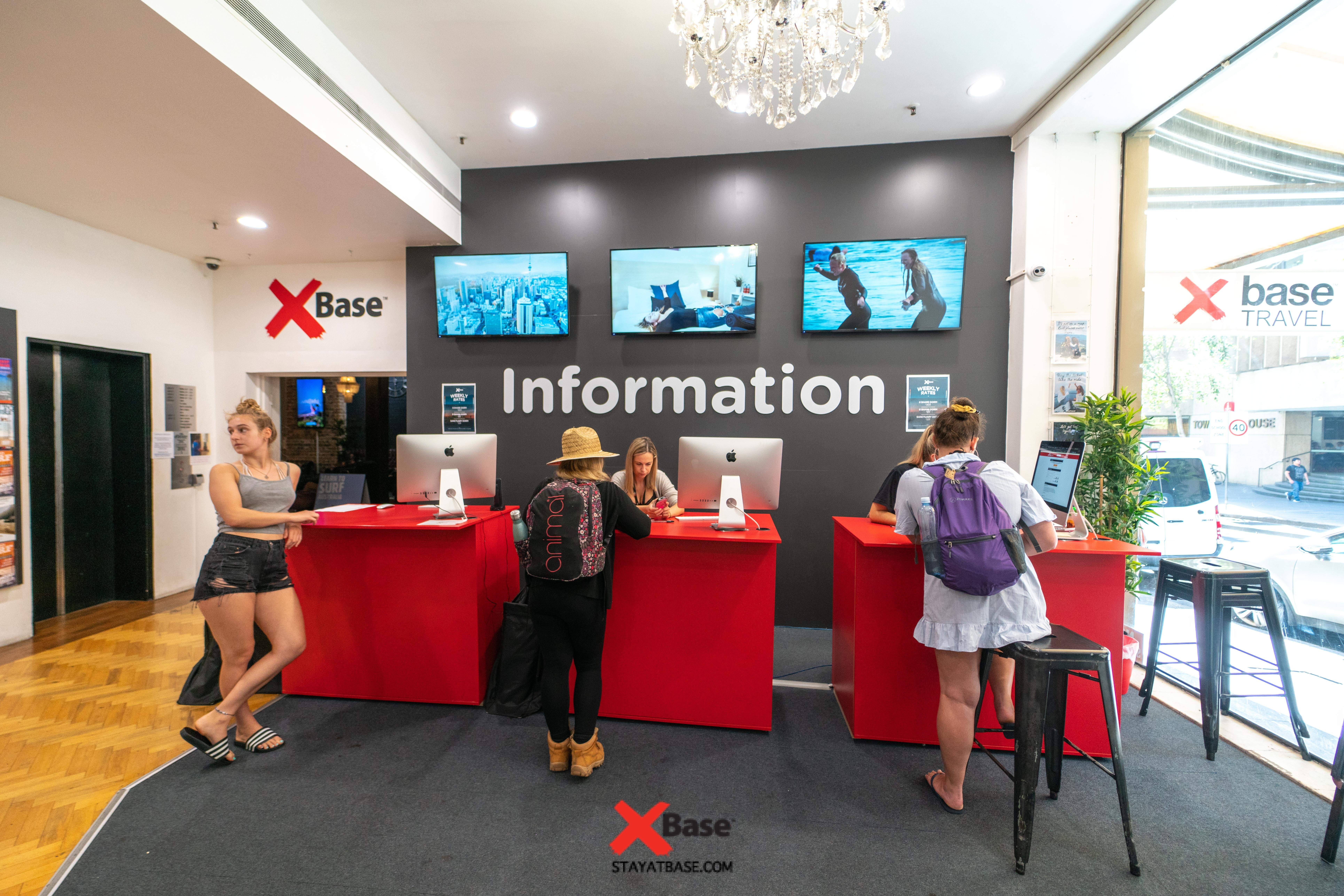 information desk at base hostel sydney