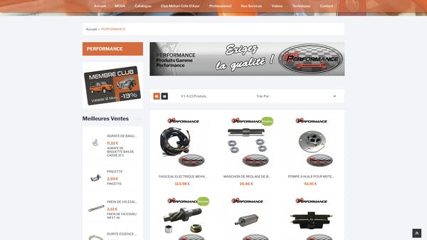 e-commerce mcda catégorie performance