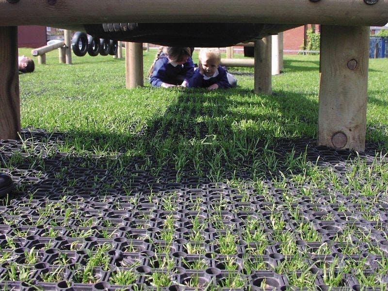 Skyddsmattor för gräs