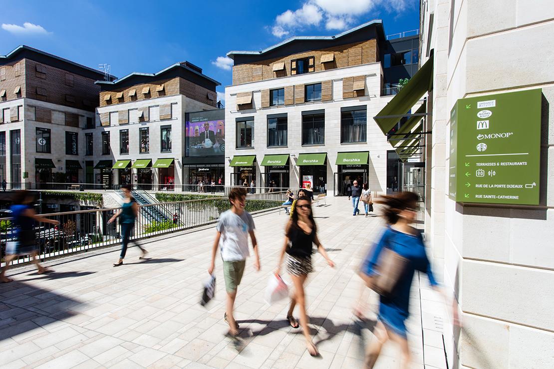 Promenade Sainte Catherine, shopping, architecture