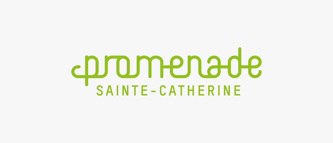 Promenade Sainte Catherine, shopping, architecture, logo