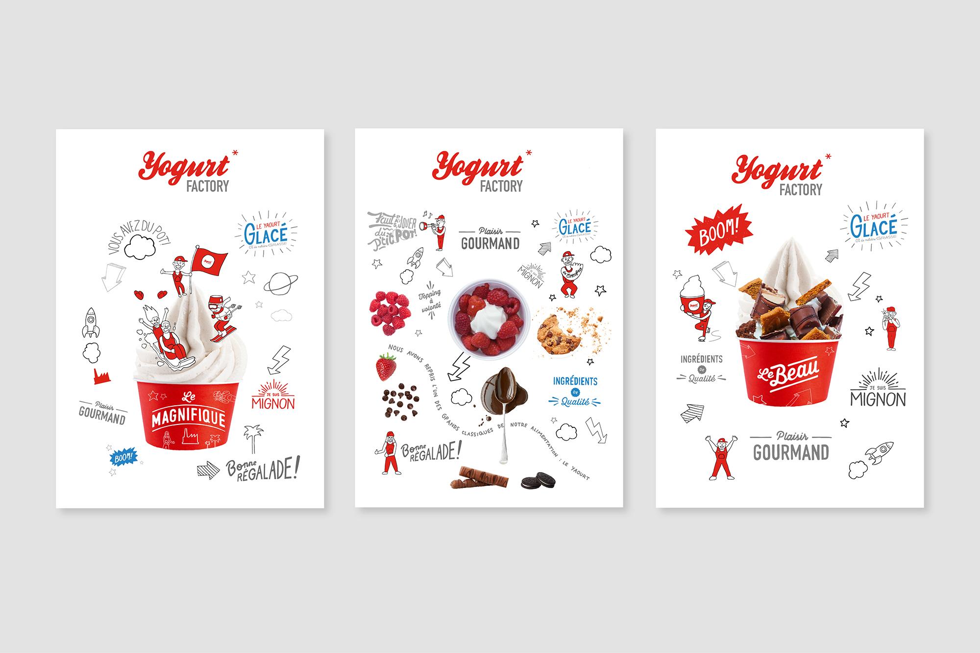 Yogurt Factory, store design, branding, design