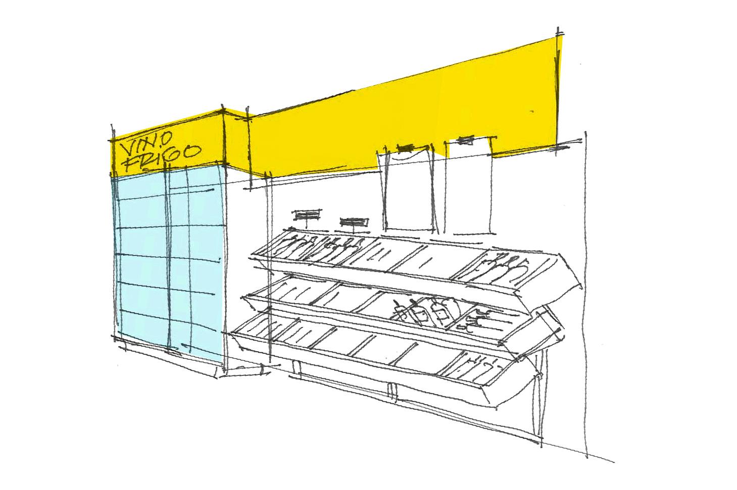 Night&Day, branding, store design, design, sketch