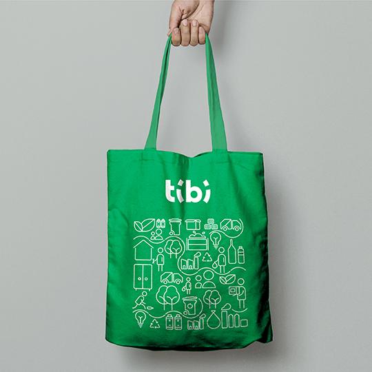 Tibi, gestion déchets, Charleroi, logo, branding