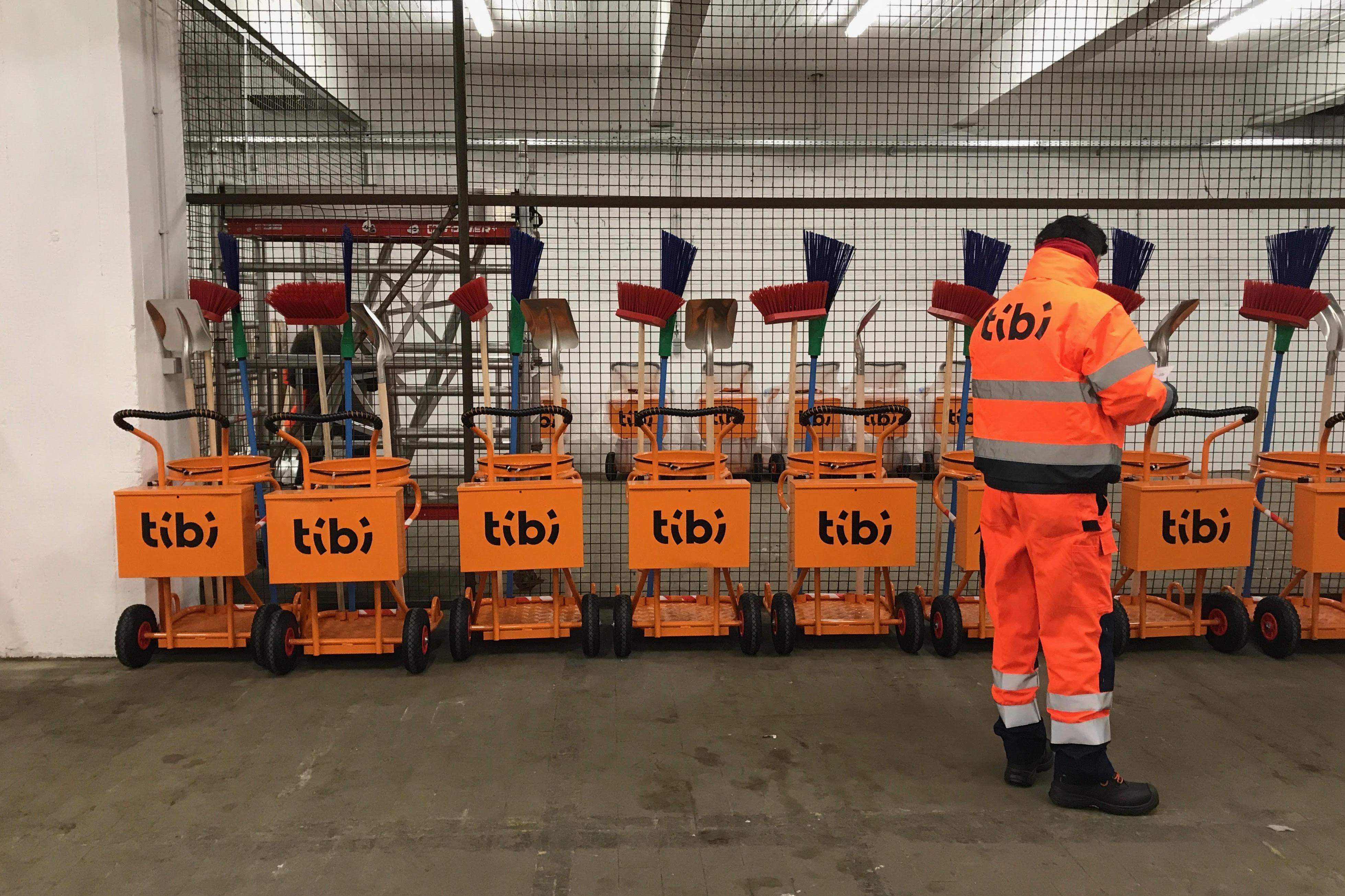 Tibi, gestion déchets, Charleroi