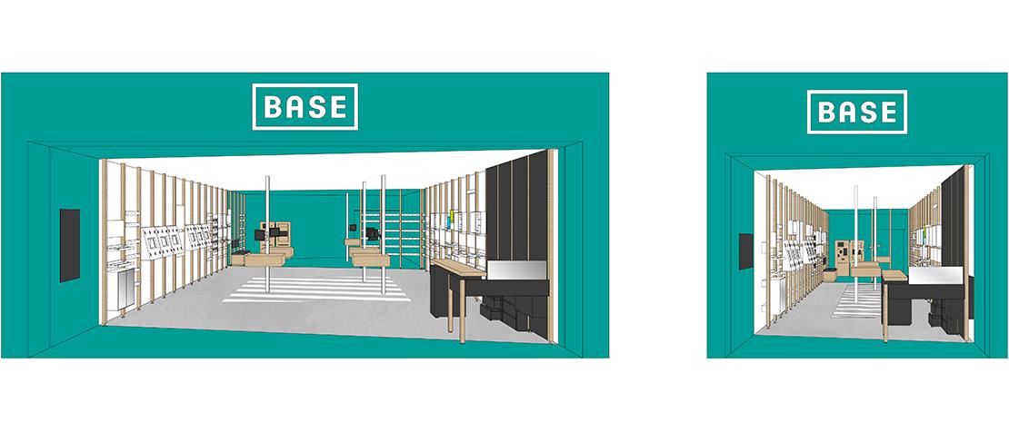 Base, concept, shop