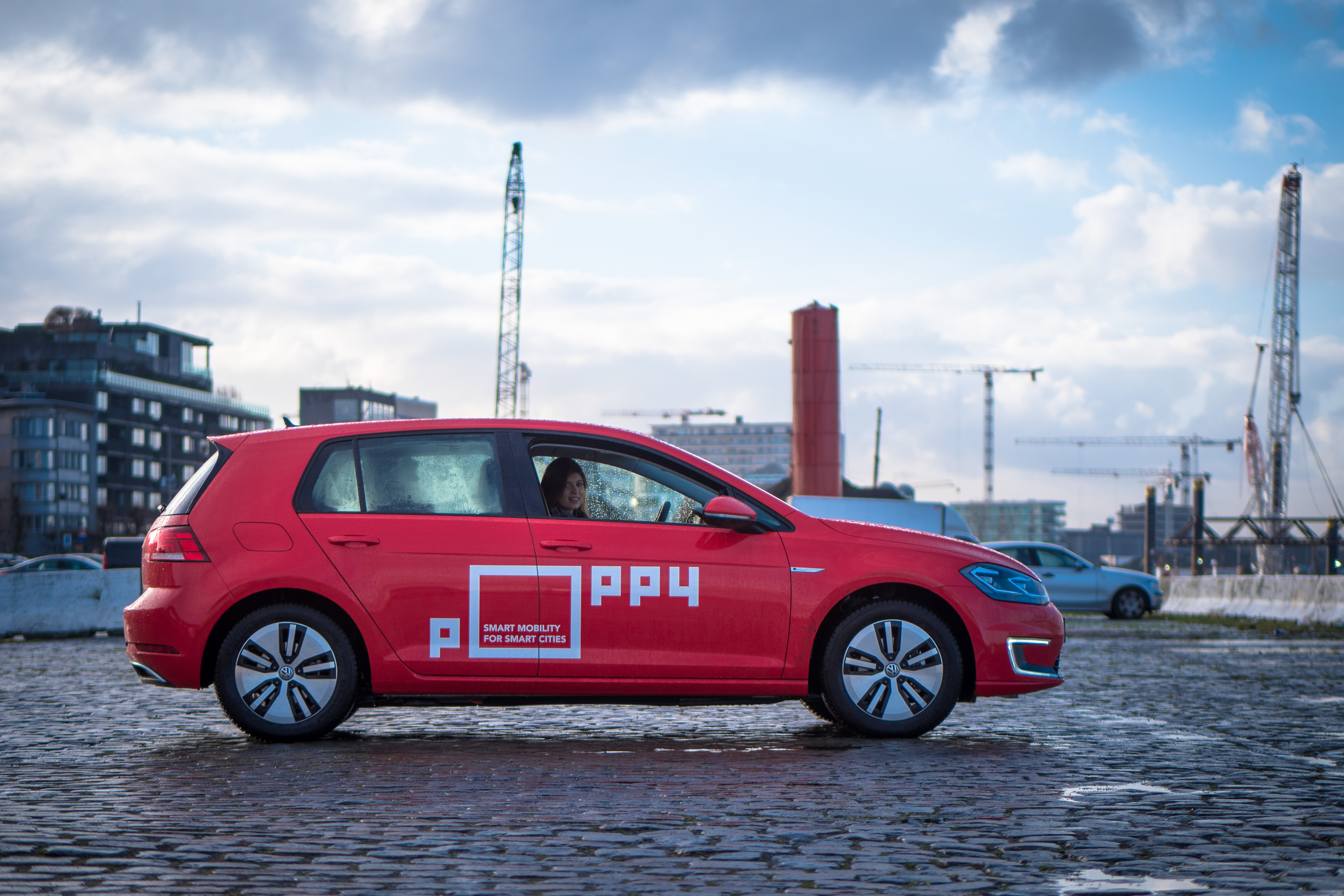 Poppy, car sharing, branding