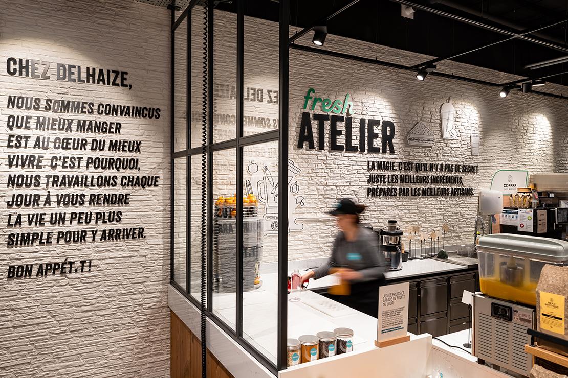 Delhaize Nivelles, design, concept