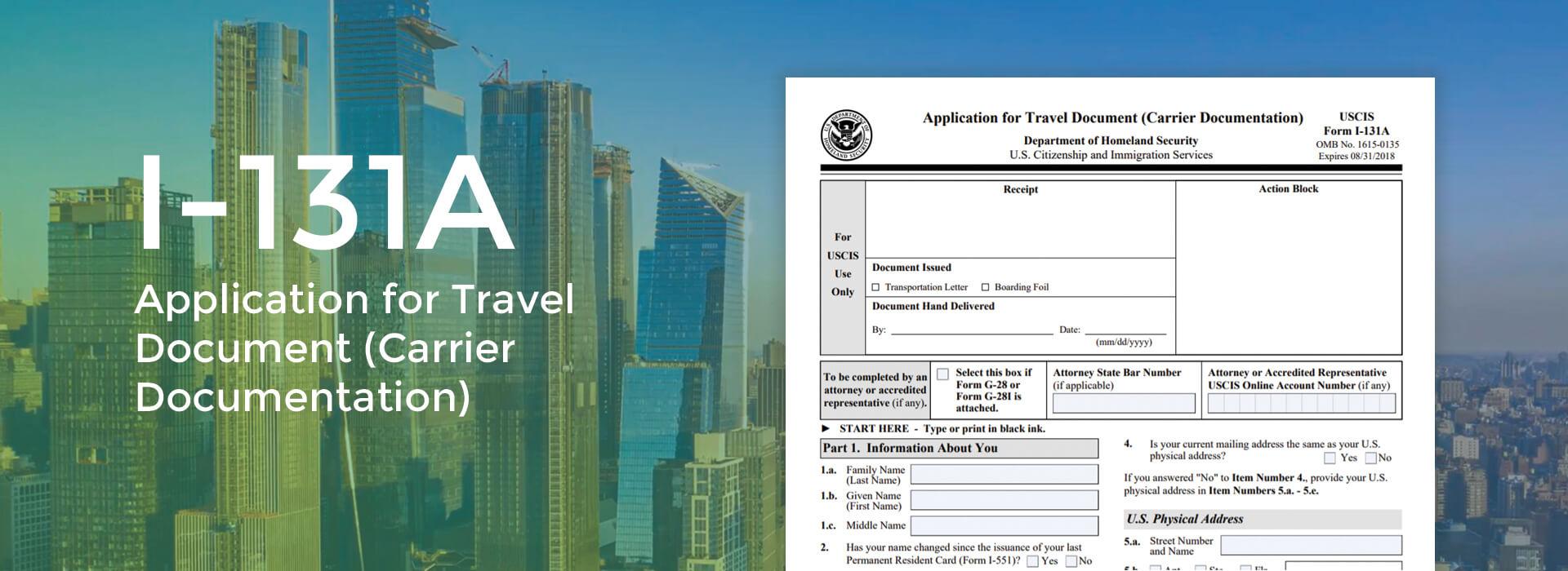Online Form I-131A