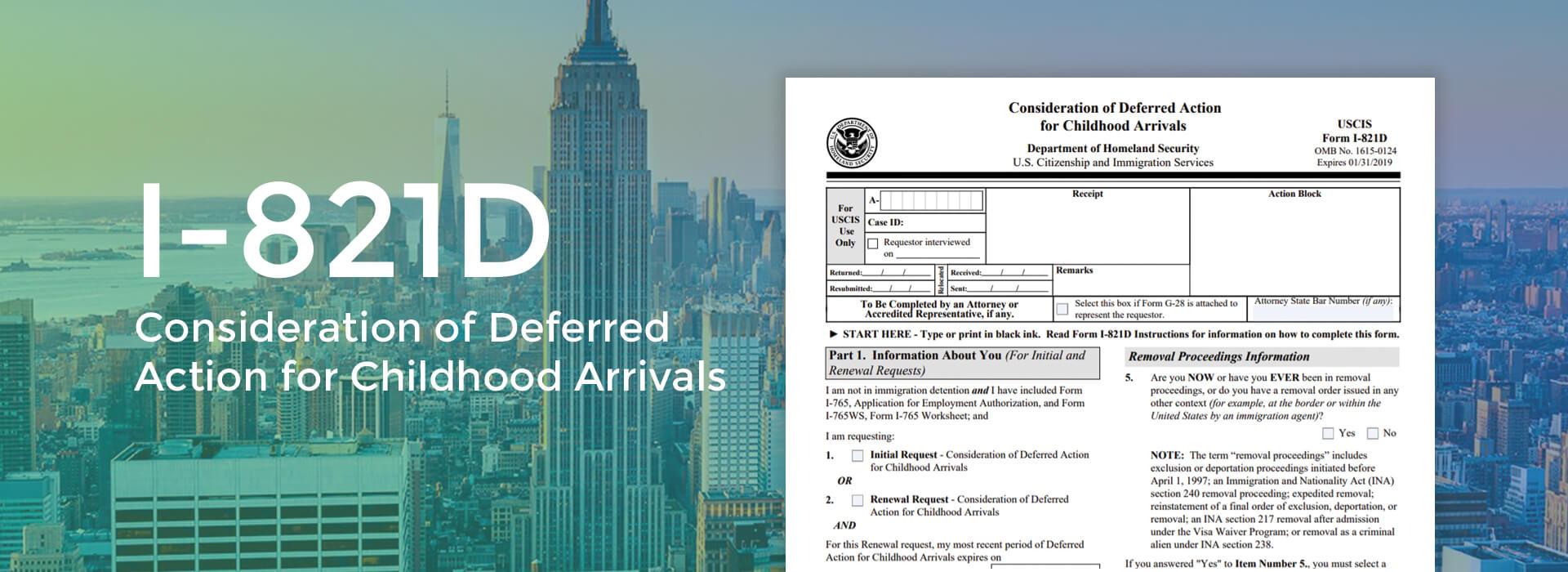 Form I-821D Online