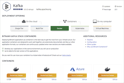 Bitnami Certified containers for Kafka