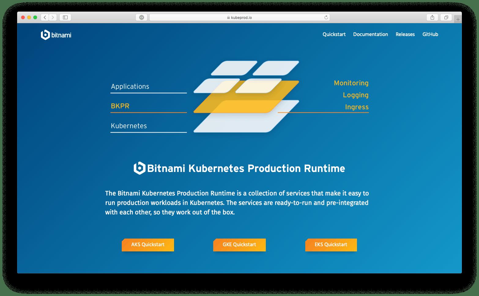 Bitnami Kubernetes Production Runtime (BKPR)