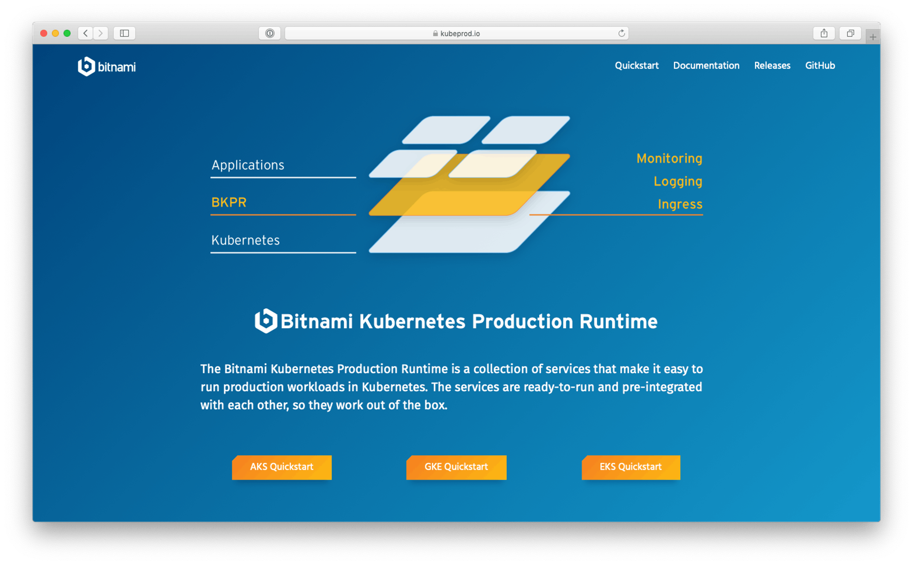 Bitnami Kubernetes Production Runtime (BKPR)