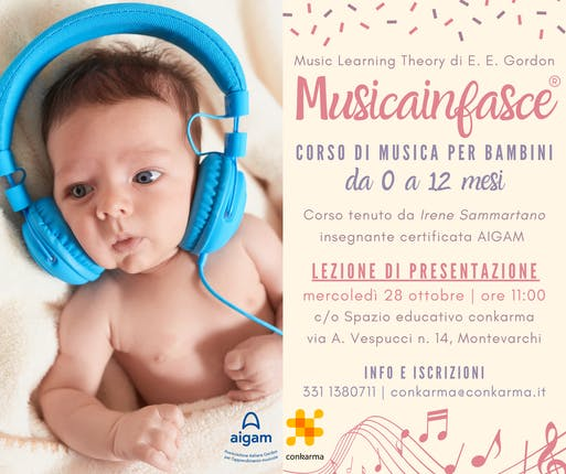 Musicainfasce - corso di musica per bambini da 0 a 12 mesi LEZIONE DI PRESENTAZIONE