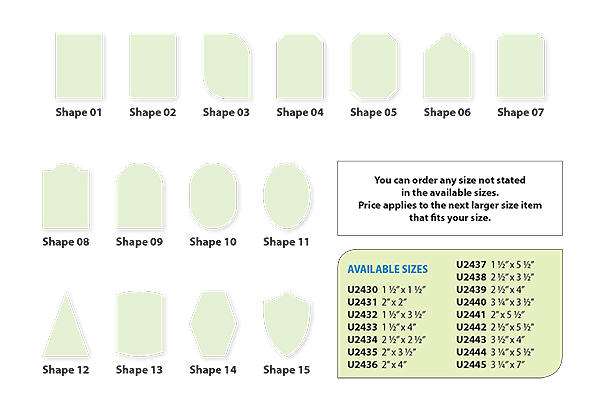 Hang Tags Paper Sizes and Shapes