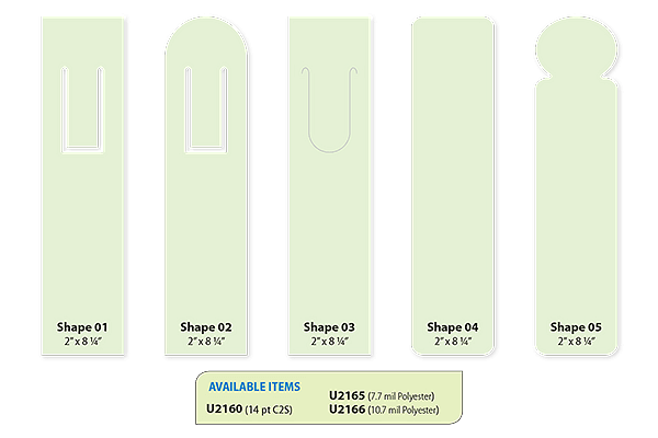 Bookmarks Sizes and Shapes