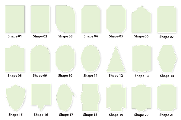 Custom Labels Paper Sizes and Shapes