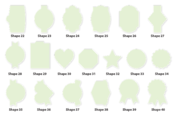 Custom Labels Plastic Sizes and Shapes