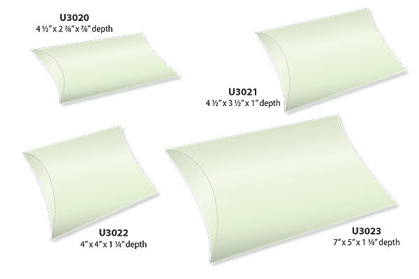 Pillow Boxes Sizes and Shapes