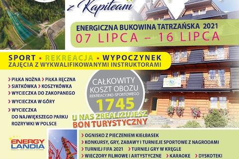 Wakacje 2021 - Energetyczna Bukowina 7.VII - 16.VII.2021
