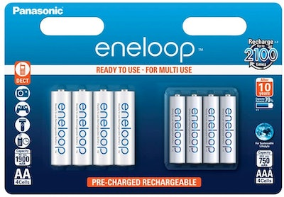 Panasonic Eneloop AA & AAA Combination Rechargeable Multipack